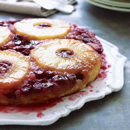 Pineapple-Cranberry Spice Cake Recipe