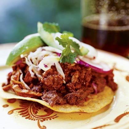 Tostadas with Shredded Pork (Tostadas de Tinga)