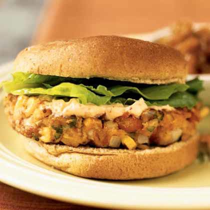 <p>Southwest Pinto Bean Burgers with Chipotle Mayonnaise</p>