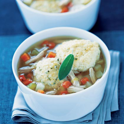 Chicken and Potato Soup with Dumplings