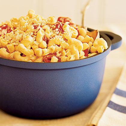 Stove-Top Macaroni and Cheese with Roasted Tomatoes RecipeMacaroni and cheese is the perfect weeknight meal. We've added meat, special cheeses, and secret ingredients; simply choose the recipe that fits your family!A little multitasking gets this stove-top mac and cheese on the table in under 45 minutes. Hearty tomatoes and crunchy breadcrumbs make it extra comforting.