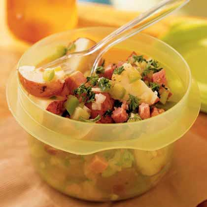 German-Style Potato Salad with Ham