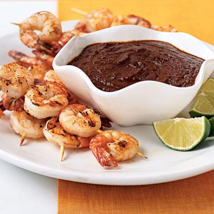 Shrimp with Mole Poblano
