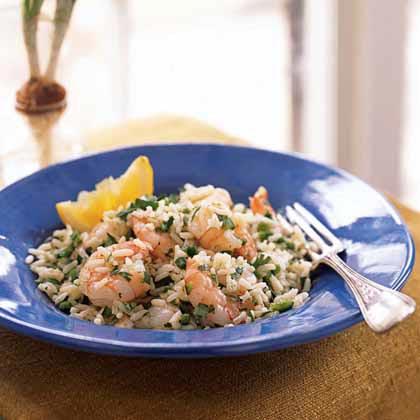 Shrimp and Rice Salad with Cilantro-Lemon Dressing