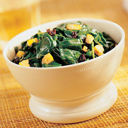 Spinach with Lemon and Currants Recipe