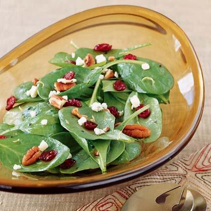 Cranberry Spinach Salad with Gorgonzola Recipe