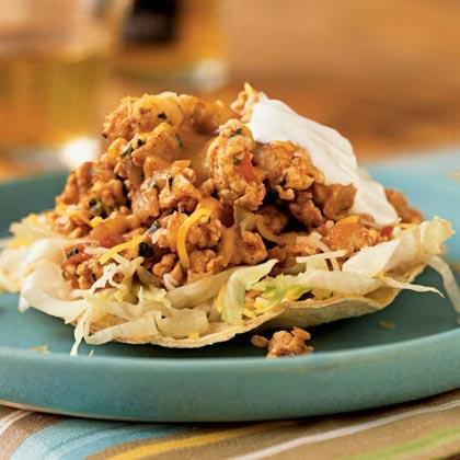 Chicken-Chile Tostadas