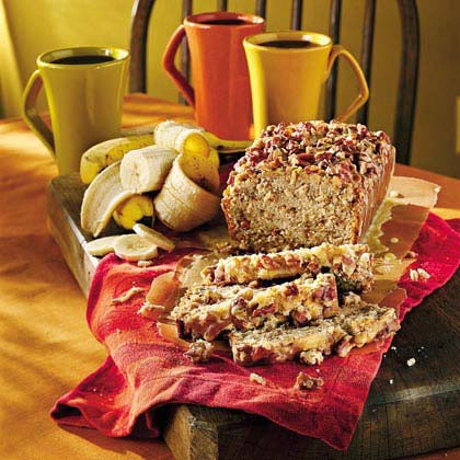 Cinnamon Crisp-Topped Cream Cheese-Banana-Nut Bread