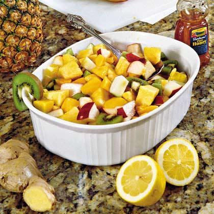 Ginger-and-Lemon Fruit Salad
