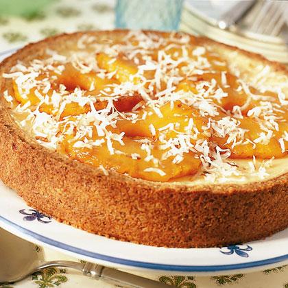 Pineapple Cheesecake with Haupia Sauce