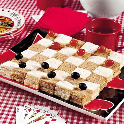 Checkerboard Cheese Sandwiches Recipe Myrecipes