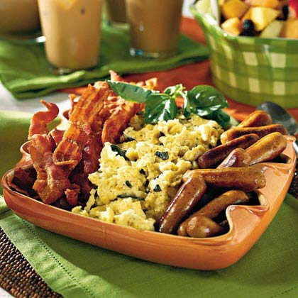 Cream cheese scrambled eggs recipe myrecipes cream cheese scrambled eggs forumfinder Choice Image