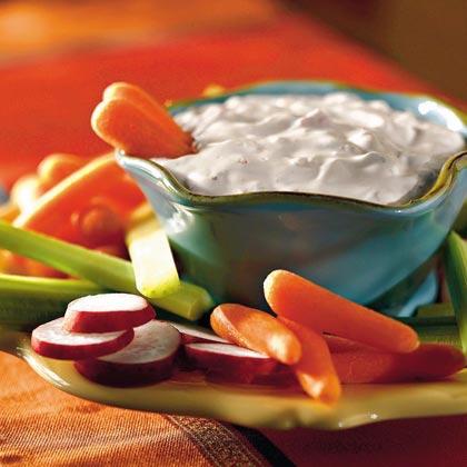 Quick Creamy Vegetable Dip Recipe