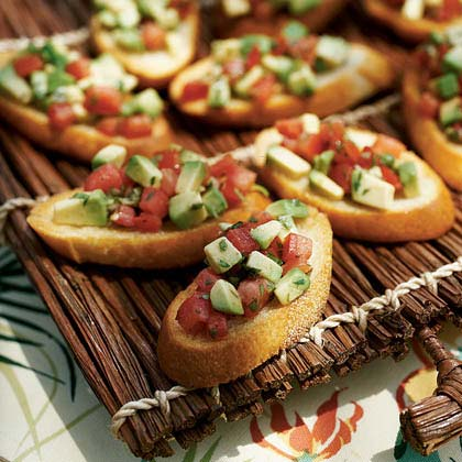 Avocado Bruschetta Recipe | MyRecipes.com