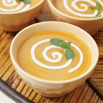 Chilled Roasted Pepper-Mango Soup Recipe