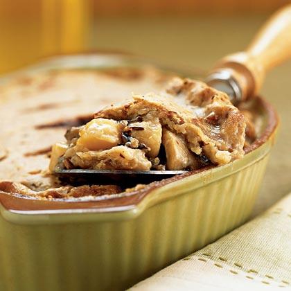 Scallop-Wild Rice Pie in a Hazelnut Crust