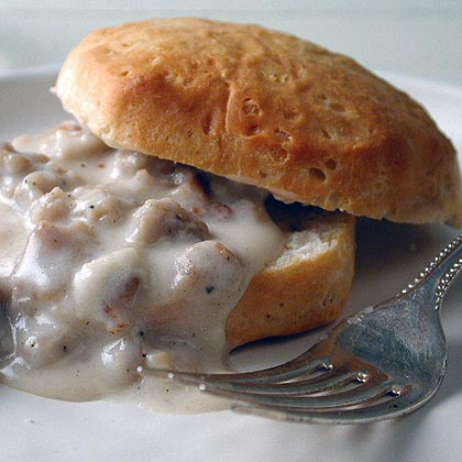 Biscuits and Vegetarian Sausage Gravy