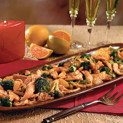 Spicy Ginger-and-Orange Chicken with Broccoli Recipe