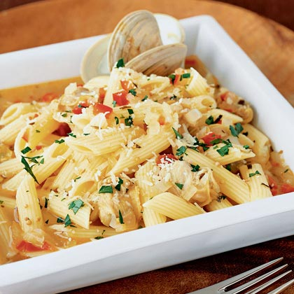 Clam and Red Pepper Penne