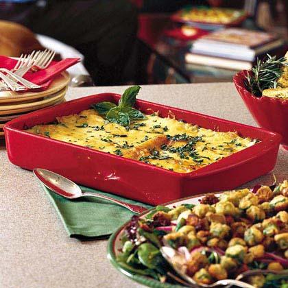 Crabmeat-and-Spinach Lasagna Recipe