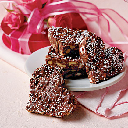 <p>Crispy Chocolate Hearts</p>