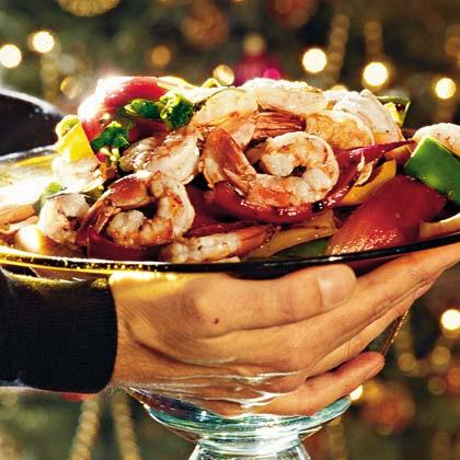 Grilled Parsleyed Shrimp and Vegetables