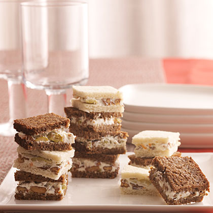 Olive-Nut Spread Sandwiches