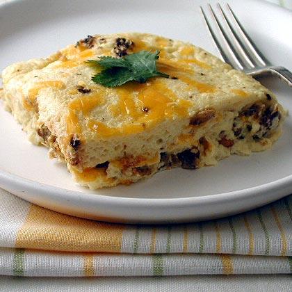 Egg Strata veggie sausage and egg strata recipe | myrecipes