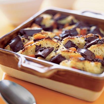 Chocolate-Apricot Bread Pudding