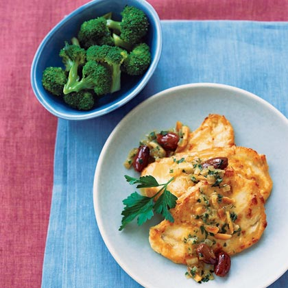 Orange-Olive Chicken Scaloppine
