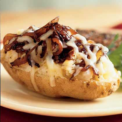 Caramelized Onion-Stuffed Baked Potato