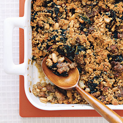 Cannellini Bean and Sausage Gratin