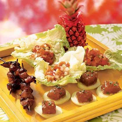 Hawaiian luau menus myrecipes chicken char siu forumfinder Choice Image