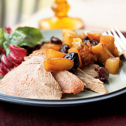 Roasted Duck with Roasted Fruit Compote Recipe