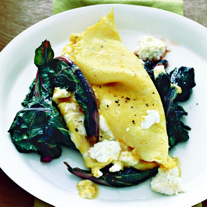 Ricotta Omelet with Swiss Chard Recipe