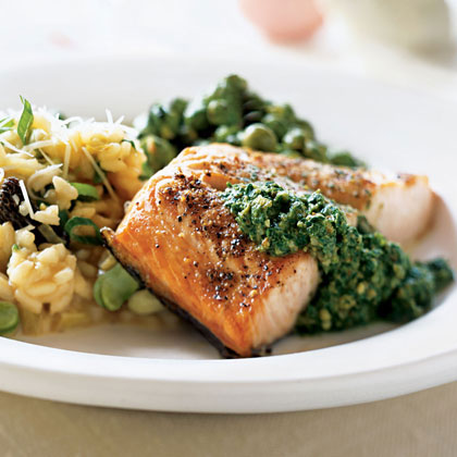 Salmon with Fresh Sorrel Sauce