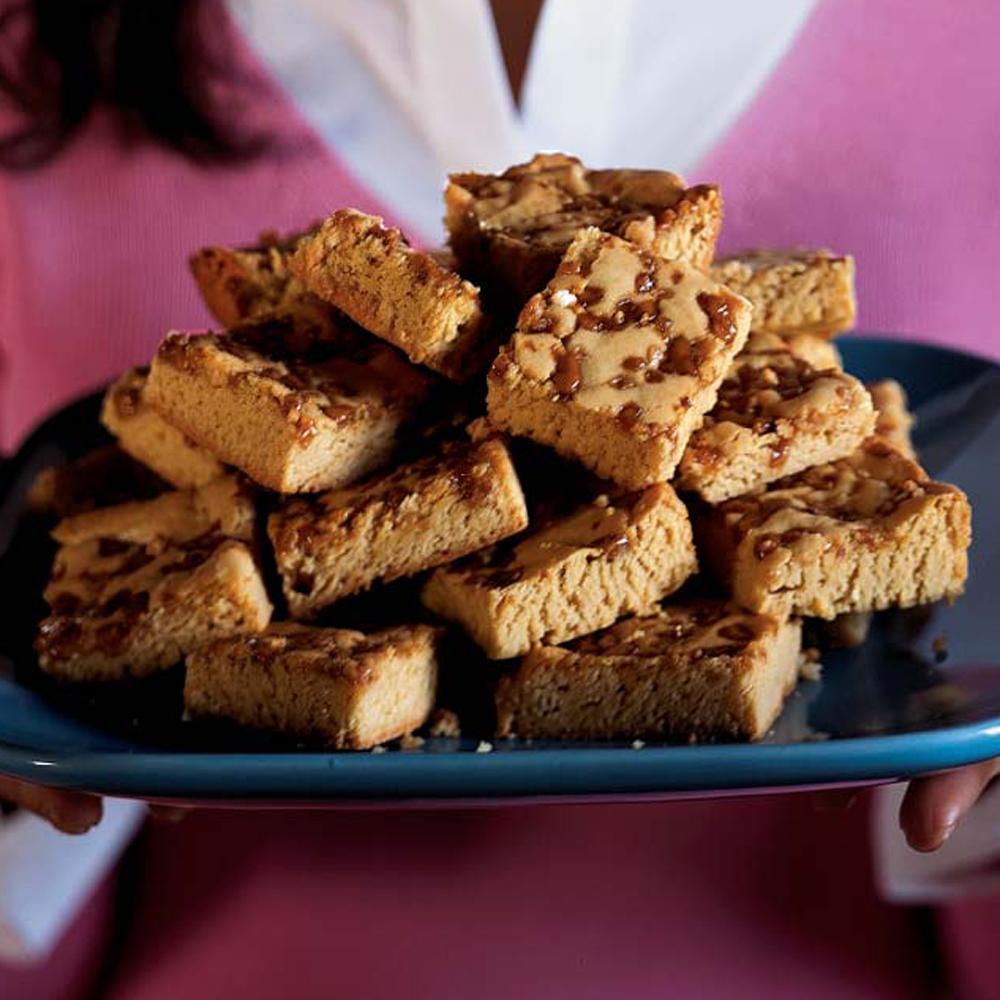 Toffee Blond Brownies