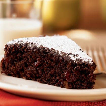 Chocolate-Walnut-Cranberry Cake