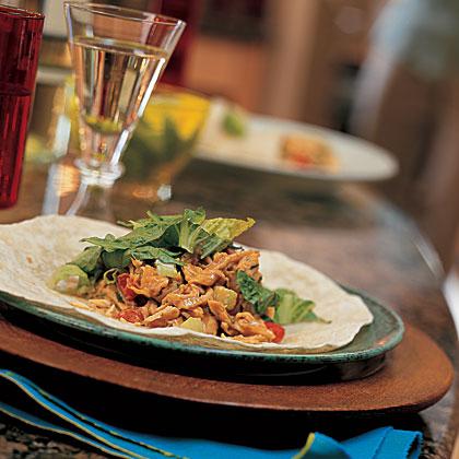 Ginger-Peanut Chicken-Salad Wraps Recipe