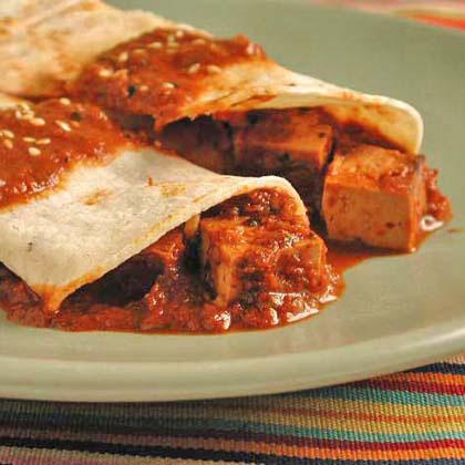 Tofu Mole Enchiladas