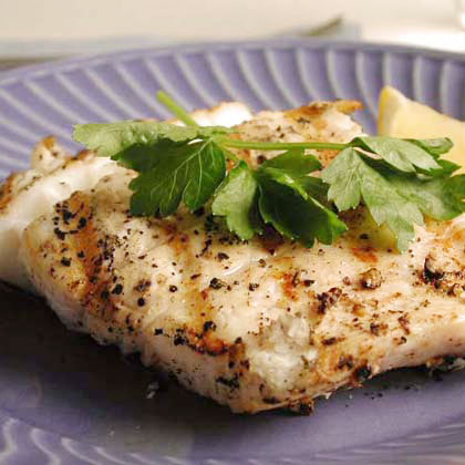 Peppered halibut steaks recipe myrecipes for How to cook halibut fish