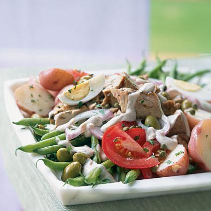 Salade Niçoise with Creamy Tofu Dressing Recipe