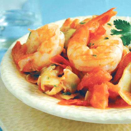 Scrumptious Shrimp with Artichokes