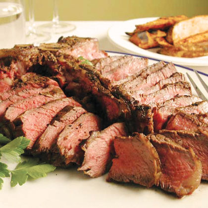 Simply Great Steak with Grilled Fries