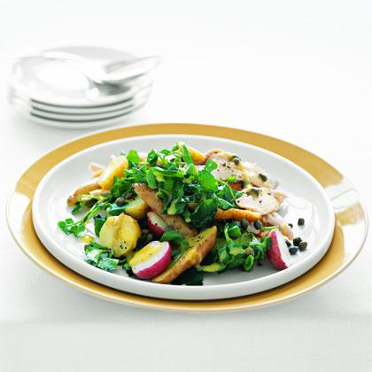 Chicken and Potatoes with Mustard Vinaigrette Recipe