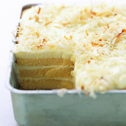 Toasted-Coconut Refrigerator Cake