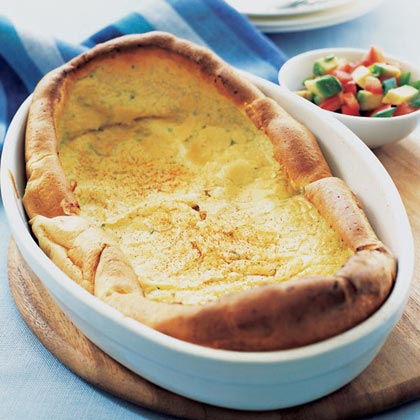 Chile Dutch Baby with Avocado Salsa