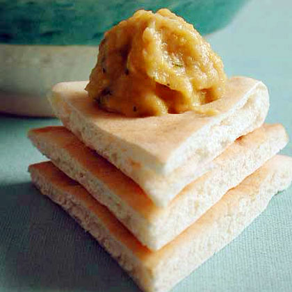 Eggplant and Chickpea Dip with MintRecipe