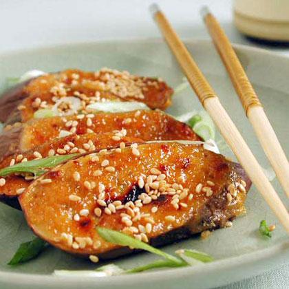 Miso-Garlic Broiled EggplantRecipe