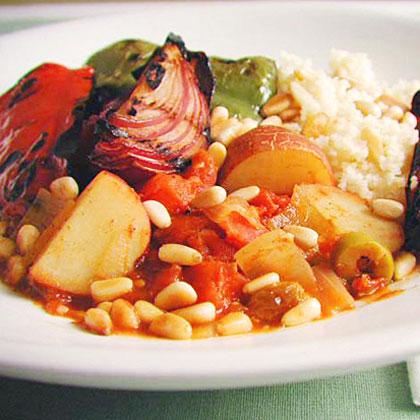 Mediterranean Grilled Vegetable Tagine